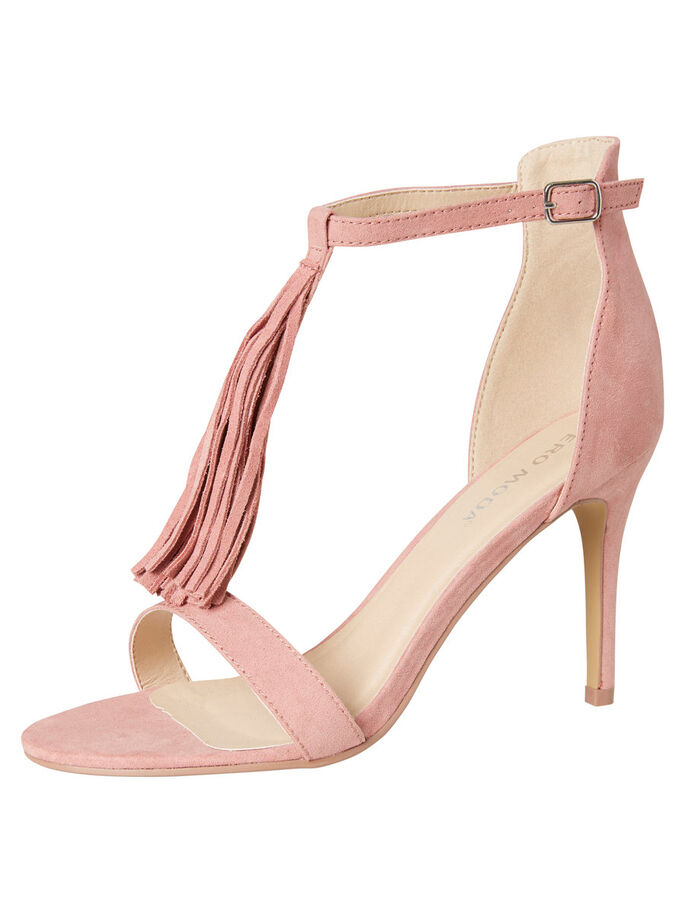 SUEDE SANDALS, Rose Dust, large