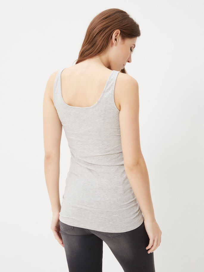 2-PACK WITH LONG TANK TOP, Light Grey Melange, large
