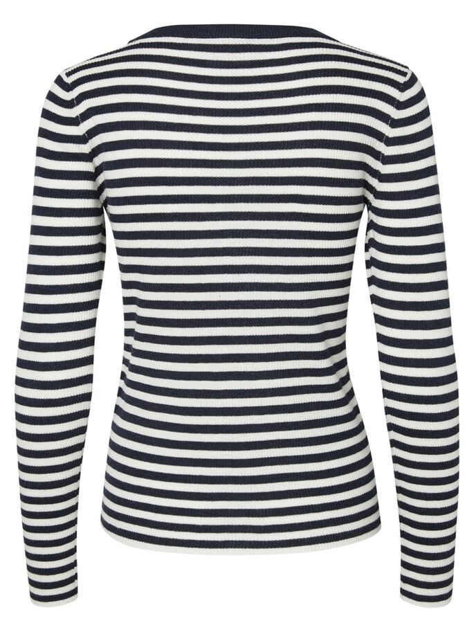 STRIPED LONG SLEEVED BLOUSE, Snow White, large