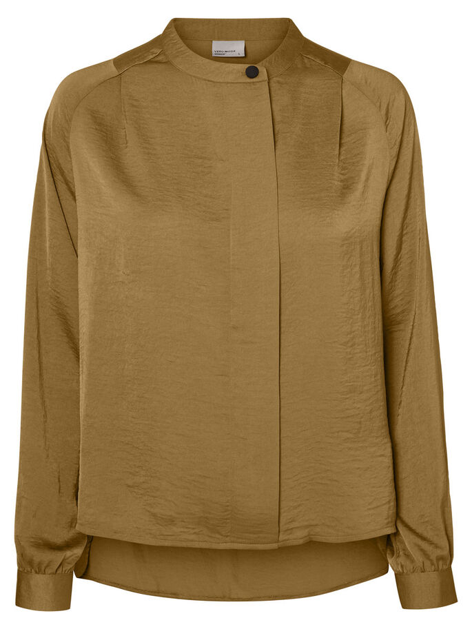 FEMININE LONG SLEEVED BLOUSE, Kangaroo, large