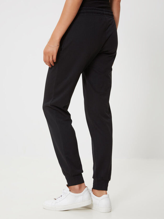 JERSEY SWEAT PANTS, Black, large