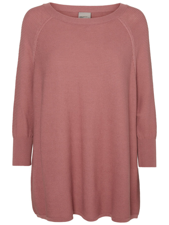 LOOSE FIT KNITTED PULLOVER, Nostalgia Rose, large