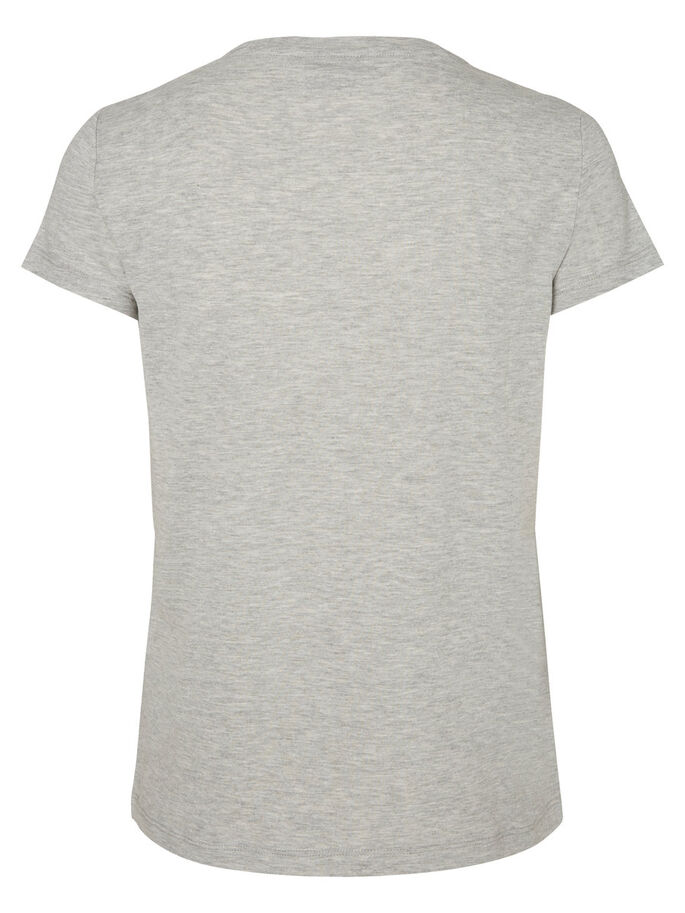 PRINTED T-SHIRT, Light Grey Melange, large