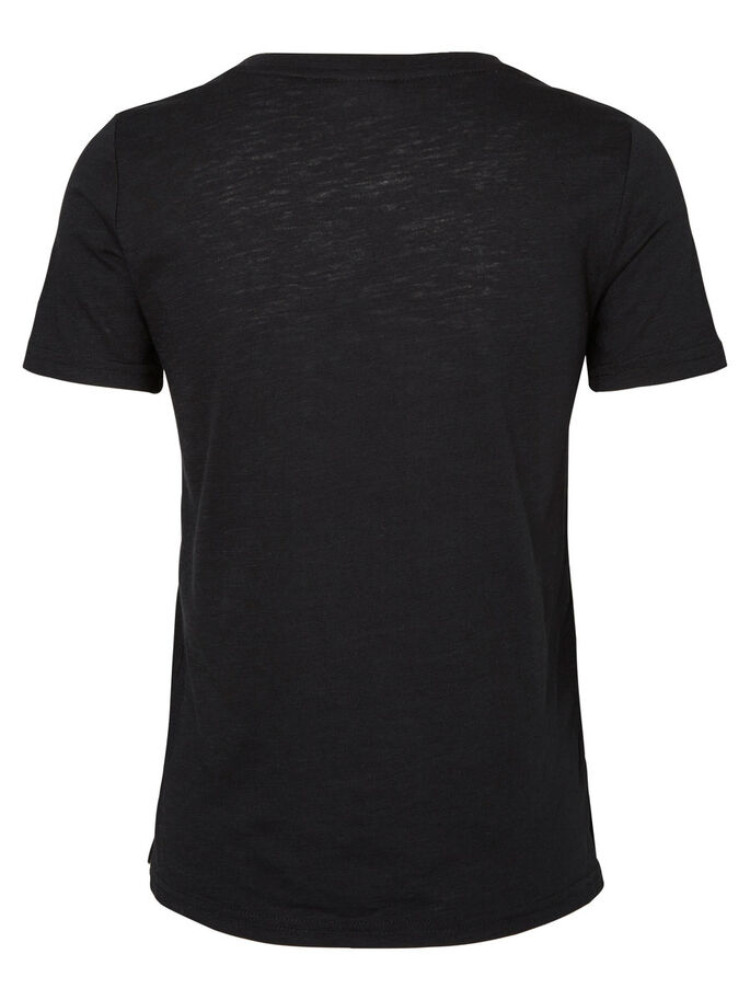SHORT SLEEVED T-SHIRT, Black, large