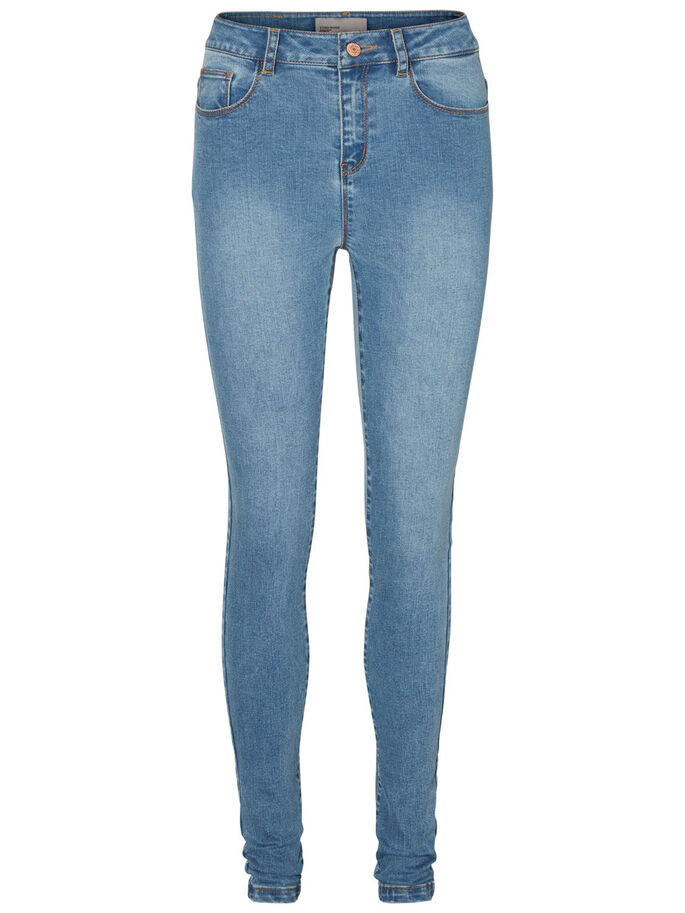 NINE HW SKINNY FIT-JEANS, Medium Blue Denim, large