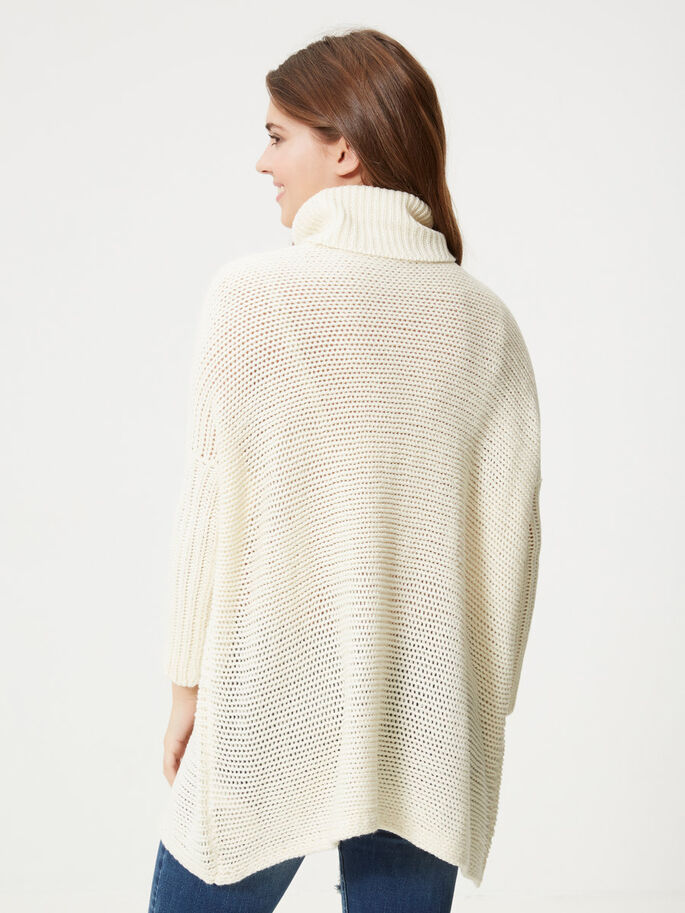 LONG SLEEVED KNITTED PULLOVER, White Asparagus, large