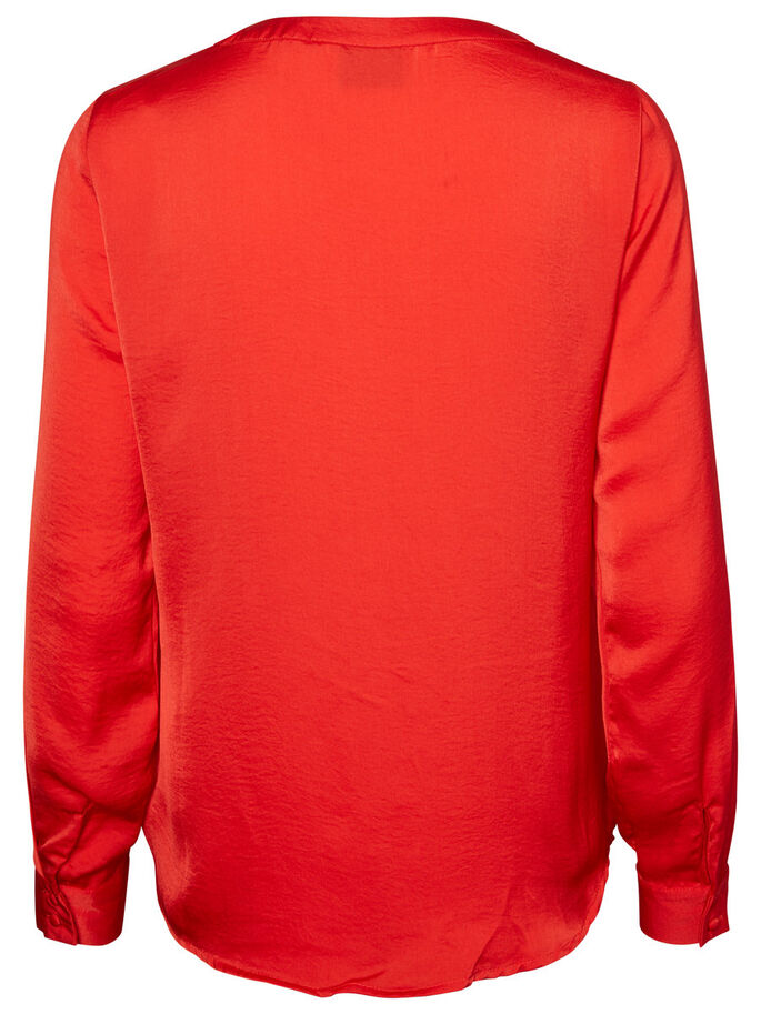 FEMININE LONG SLEEVED SHIRT, Racing Red, large