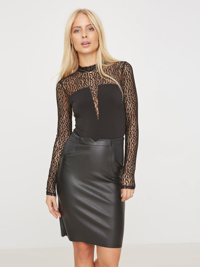 LACE BODY, Black, large