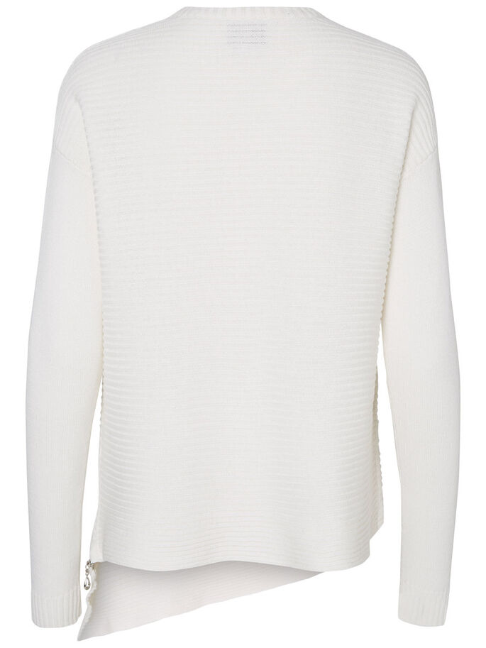 DETAILED KNITTED PULLOVER, Snow White, large