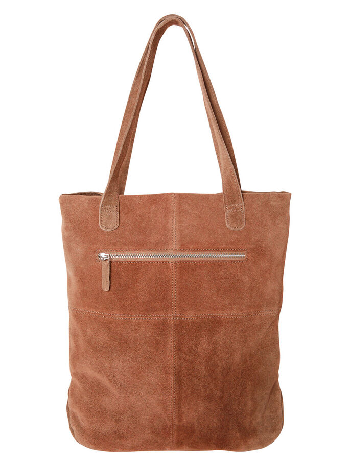 SUEDE BAG, Black Coffee, large