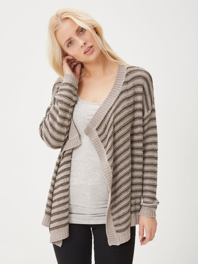 DRAPED CARDIGAN, Ash, large