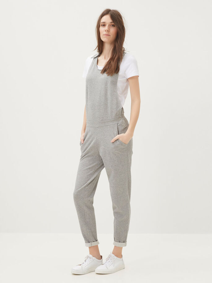 MOUWLOZE JUMPSUIT, Light Grey Melange, large