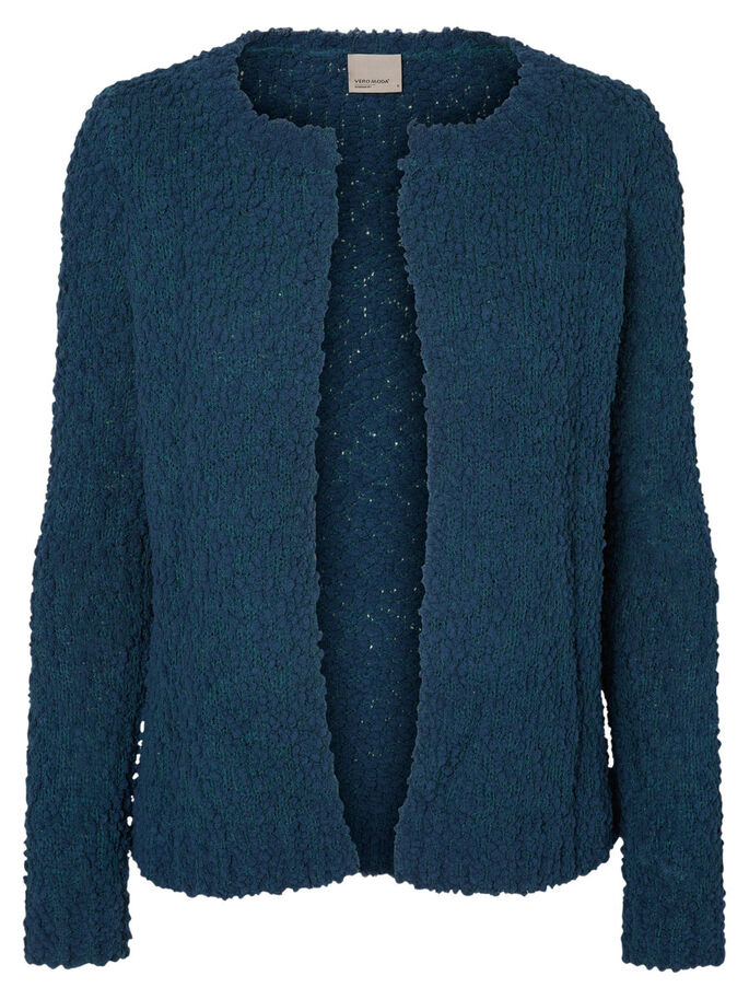 LONG KNITTED CARDIGAN, Reflecting Pond, large