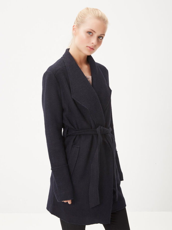 WOOL COAT, Navy Blazer, large