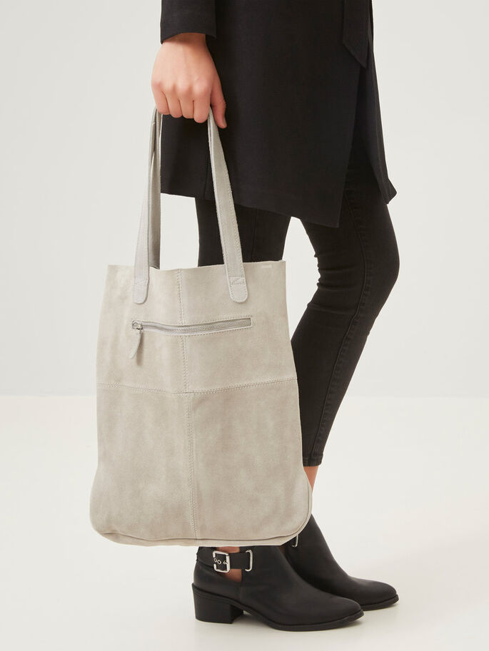 SUEDE BAG, High-Rise, large