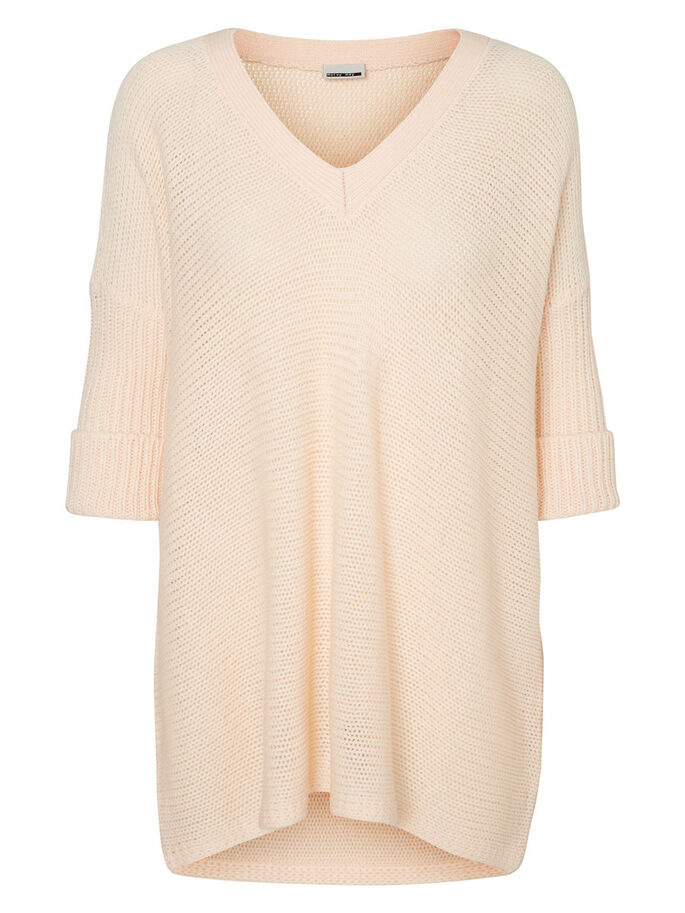 OVERSIZED PULL EN MAILLE, Pale Peach, large