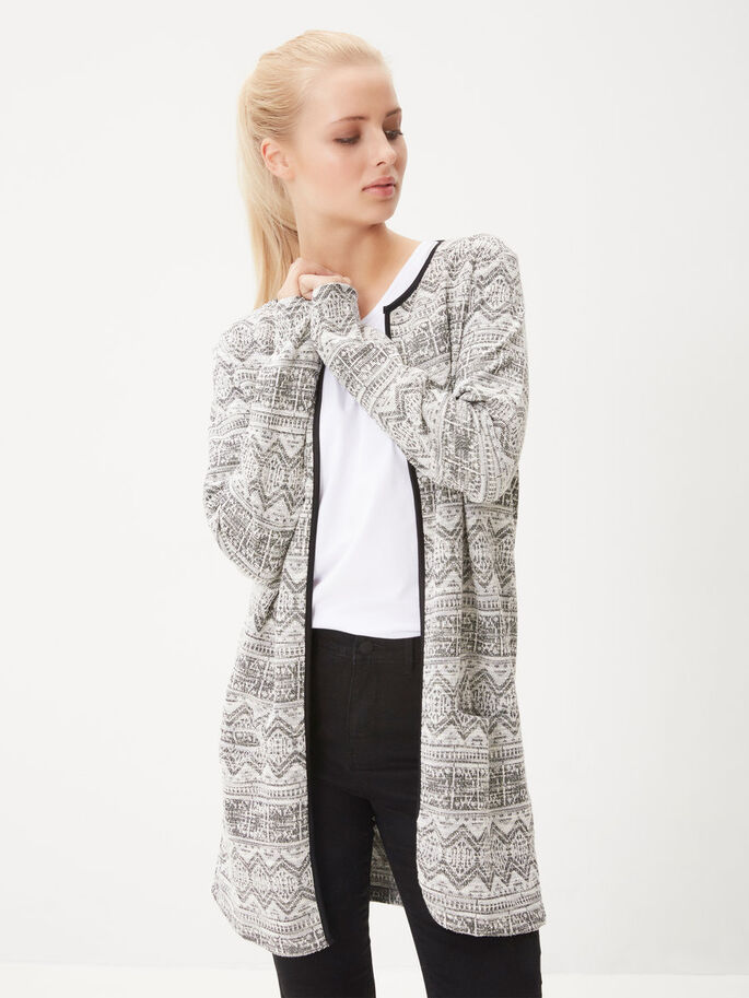 LONG CARDIGAN, Snow White, large