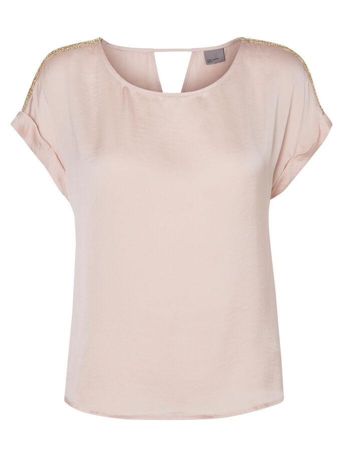 DETAILED T-SHIRT, Peach Whip, large