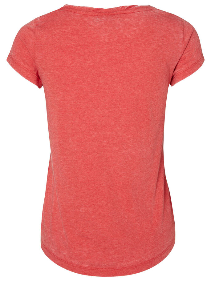 PRINTED T-SHIRT, Scarlet, large