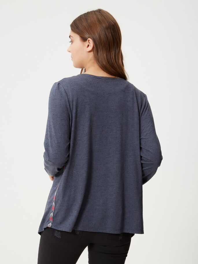 DRAPED CARDIGAN, Ombre Blue, large