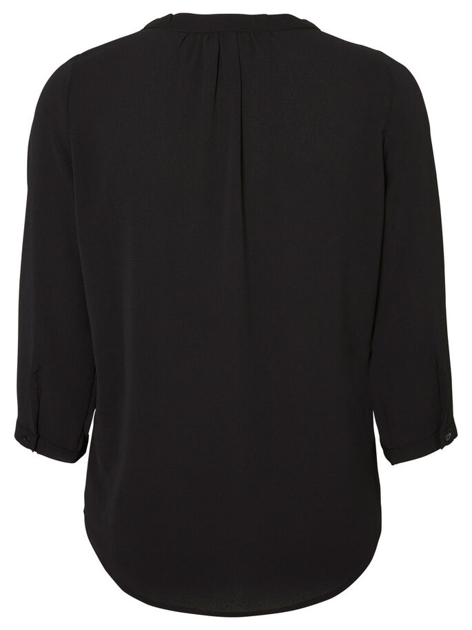 FEMININE 3/4 SLEEVED SHIRT, Black, large