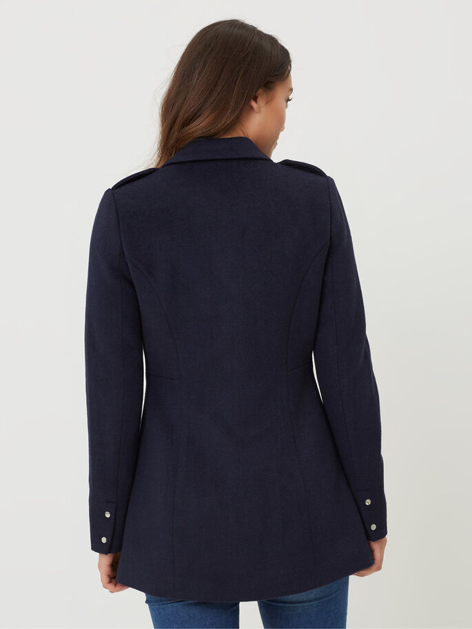 WOOL JACKET, Navy Blazer, large