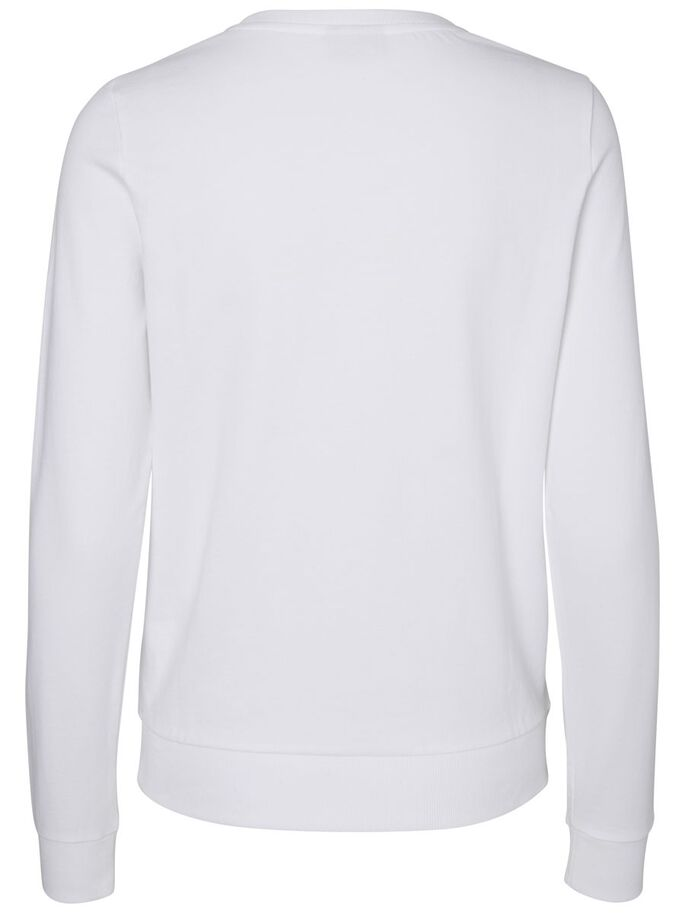 DÉCONTRACTÉ SWEAT-SHIRT, Bright White, large