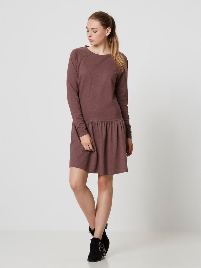 SHORT JERSEY DRESS, Decadent Chocolate, large