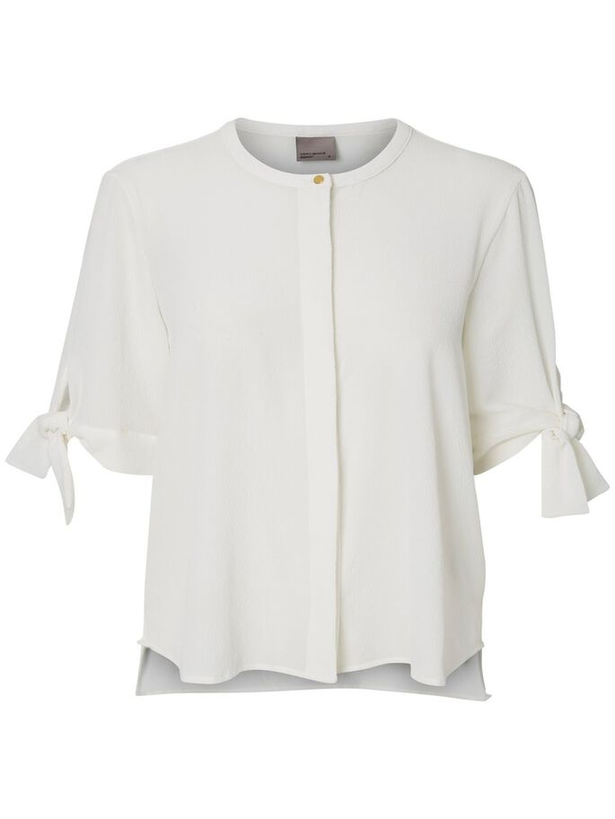 FEMININE 3/4 SLEEVED BLOUSE, Snow White, large