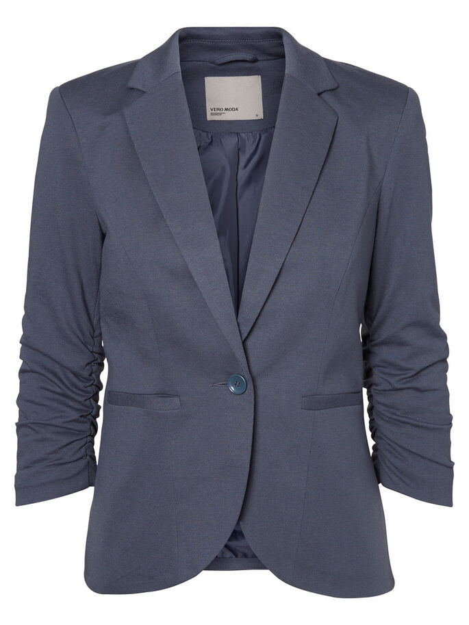 3/4 SLEEVED BLAZER, Ombre Blue, large
