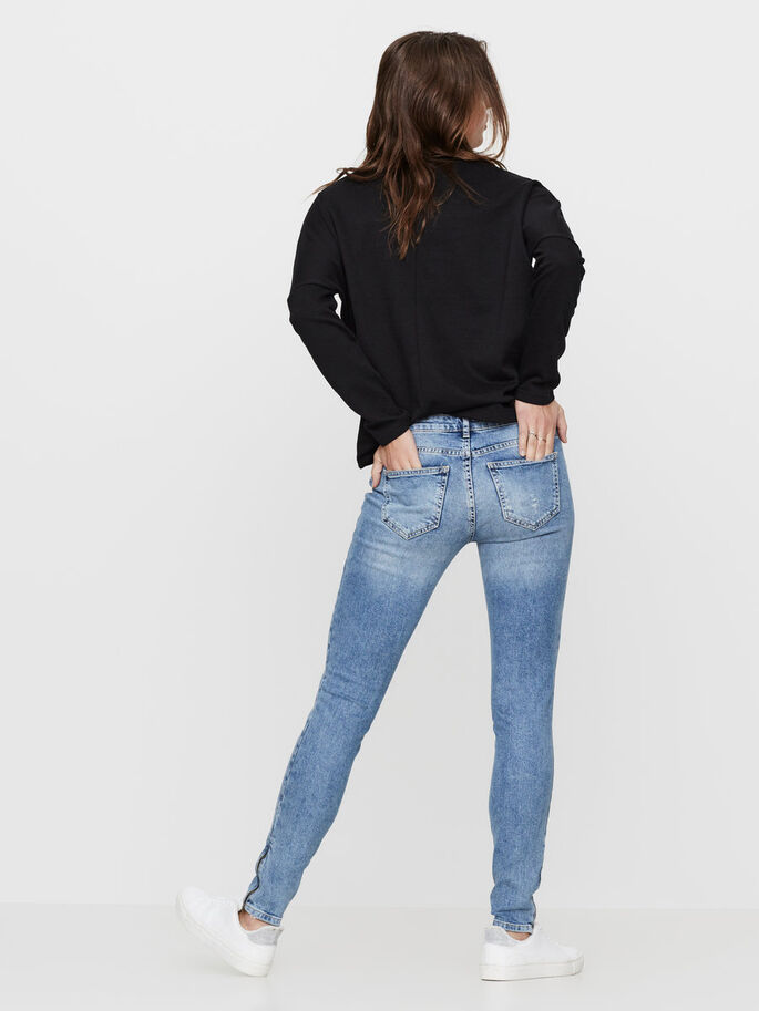 EVE NW ANKLE SKINNY JEANS, Medium Blue Denim, large