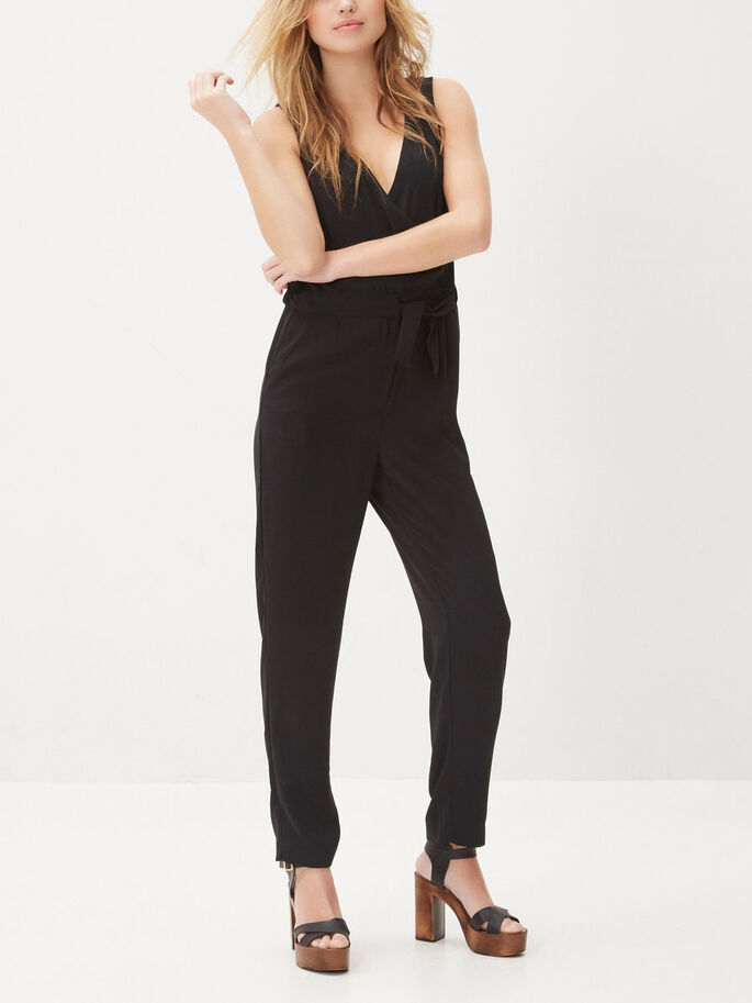 LOOSE FIT JUMPSUIT, Black, large