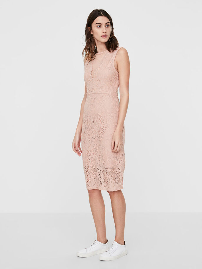 LACE DRESS, Mahogany Rose, large