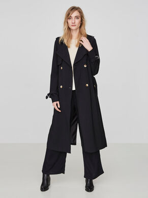 trench coats short long trench coats for women vero moda. Black Bedroom Furniture Sets. Home Design Ideas