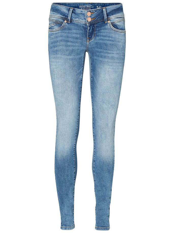 EVE LW SKINNY FIT JEANS, Light Blue Denim, large