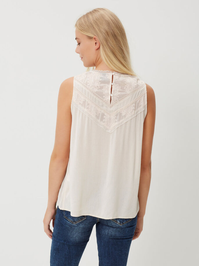 LACE SLEEVELESS TOP, Pink Tint, large