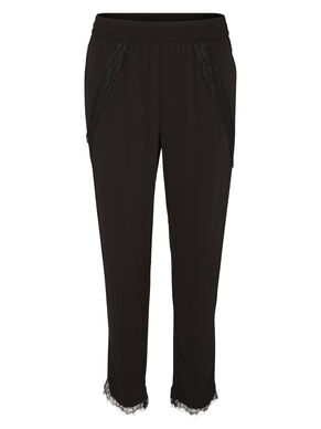 LACED LOOSE FIT TROUSERS
