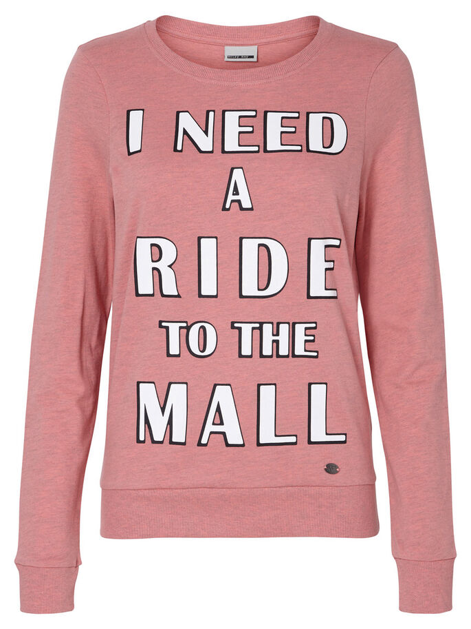 PRINTED SWEATSHIRT, Salmon Rose, large