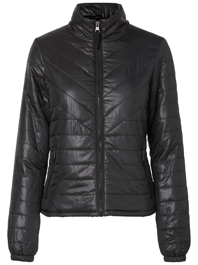 SHORT PADDED JACKET, Black, large