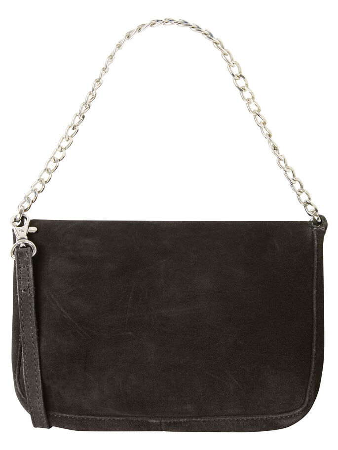 SHOULDER SUEDE BAG, Black, large