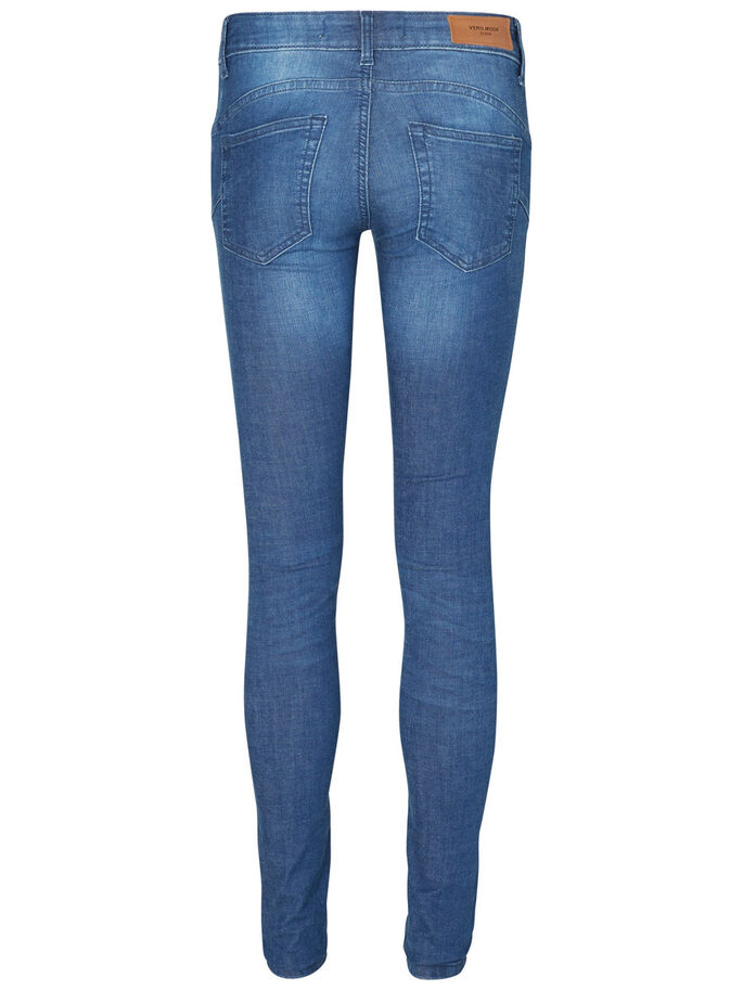 FIVE LW PUSH UP SKINNY FIT JEANS, Medium Blue Denim, large