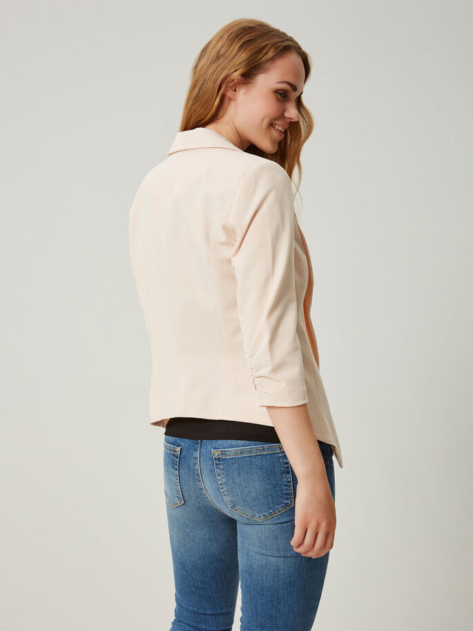 MANCHES 3/4 BLAZER, Pearl, large