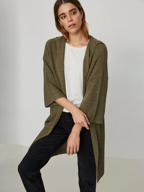 3/4 SLEEVED KNITTED CARDIGAN