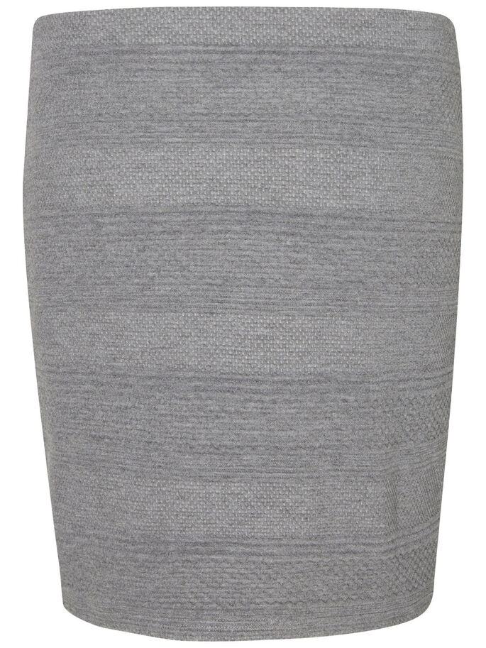 NW SHORT JUPE, Medium Grey Melange, large
