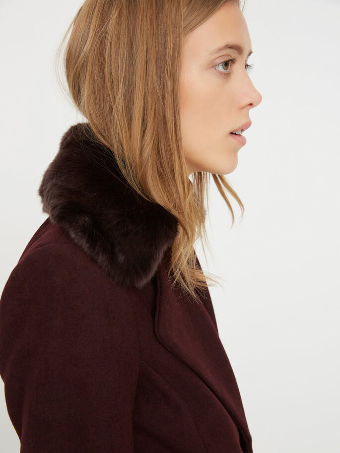 LONG WOOL COAT, Decadent Chocolate, large