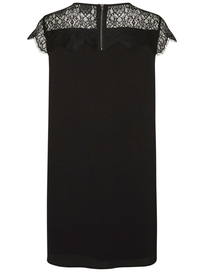 LACE SLEEVELESS DRESS, Black, large