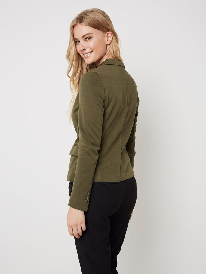 LONG SLEEVED BLAZER, Ivy Green, large
