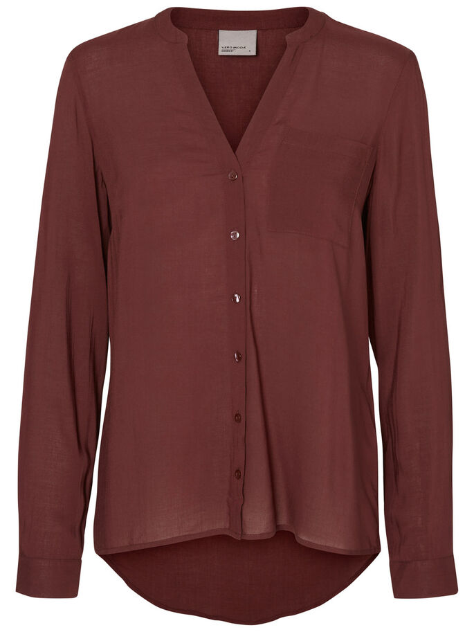 WOVEN SHIRT, Decadent Chocolate, large