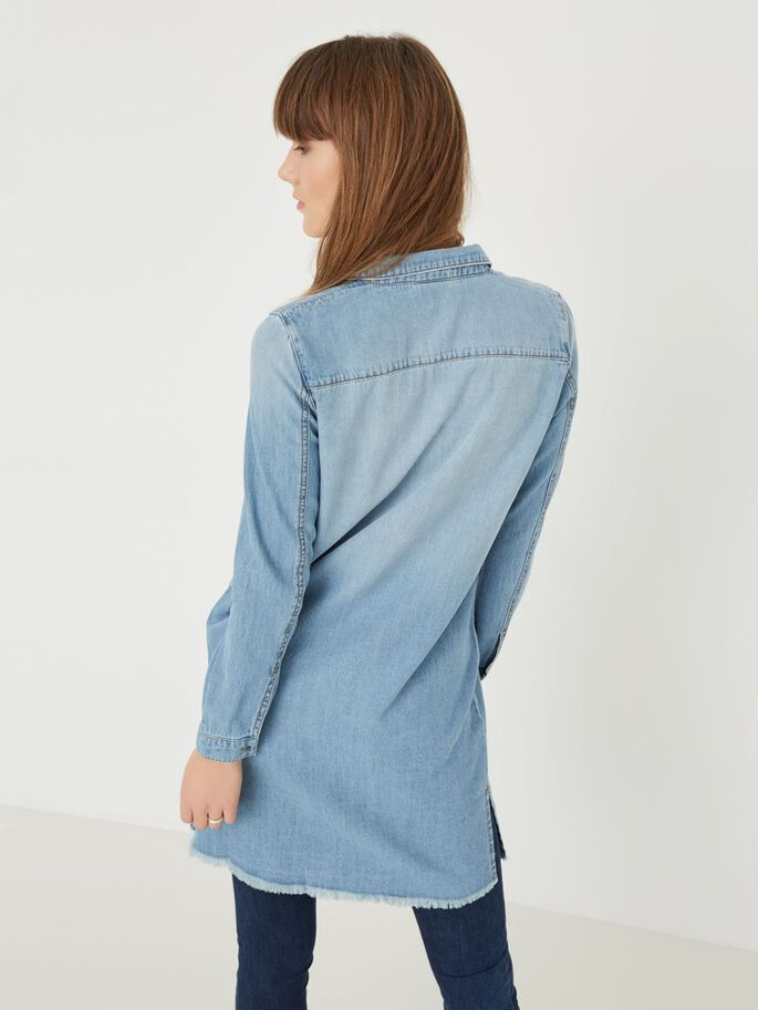 LÄSSIGES JEANSKLEID, Light Blue Denim, large
