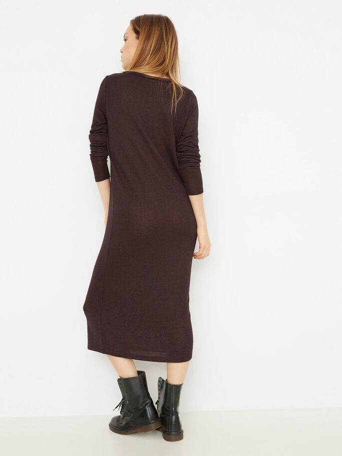 LONG SLEEVED DRESS, Decadent Chocolate, large